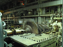 отремонтируйте турбину пара Стоковое Фото