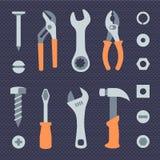 Отремонтируйте установленные значки инструментов иллюстрация вектора