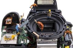 Отремонтируйте цифровую камеру SLR Стоковое фото RF