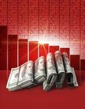 Отрицательные деньги рынка Стоковое Изображение RF