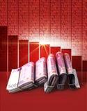 Отрицательные деньги рынка Стоковые Изображения