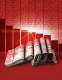 Отрицательные деньги рынка Стоковое фото RF