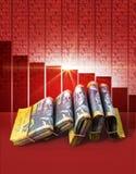 Отрицательные деньги рынка Стоковая Фотография RF