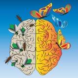 Отрицательные мысли, наркомания и заманчивость Стоковые Изображения RF