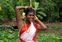 отроческая девушка Индия сельская Стоковые Фото