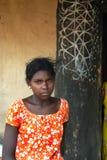 отроческая девушка Индия сельская Стоковое фото RF