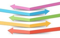 Отскоченный шаблон Infographic стрелок цвета Стоковые Фотографии RF