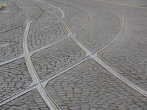 отслеживает tramway стоковая фотография rf