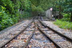 отслеживайте поезд Стоковое Изображение RF