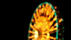 Отснятый видеоматериал запачканный ночью с bokeh сток-видео