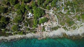 Отснятый видеоматериал летания трутня далеко от побережья видеоматериал