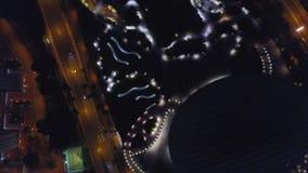 Отснятый видеоматериал небо fron взгляда городского пейзажа Гонконга и Kowloon