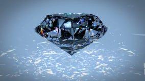 Отснятый видеоматериал рассеивания черного алмаза Carbonado поликристаллическое диаманта, графита, и аморфного углерода сердитой акции видеоматериалы