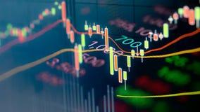 Отснятый видеоматериал питания рыночной цены фондовой биржи видеоматериал