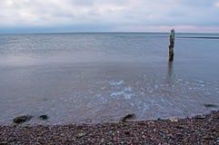 Отступления прилива от бечевника на заливе Fundy стоковое фото