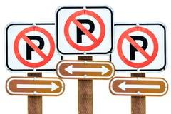 Отсутствие автостоянки везде Стоковые Изображения