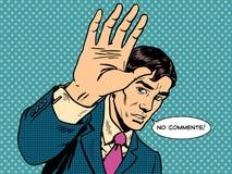 Отсутствие бизнесмена политика знаменитости комментариев мужского бесплатная иллюстрация