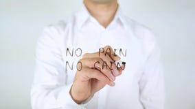 Отсутствие боли отсутствие увеличения, сочинительства человека на стекле Стоковое Фото