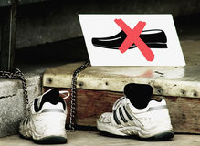 отсутствие ботинок Стоковое фото RF