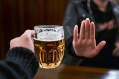 Отсутствие больше пива для меня Стоковая Фотография