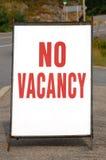отсутствие вакансии знака стоковое изображение rf