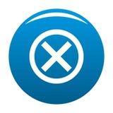 Отсутствие вектора сини значка знака бесплатная иллюстрация