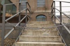 Отсутствие входа к лестнице стоковое изображение rf