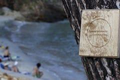 Отсутствие входа на пляж стоковое изображение