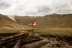 Отсутствие входа в горы Стоковые Фотографии RF