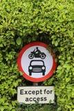 Отсутствие входа за исключением знака доступа Стоковое Изображение