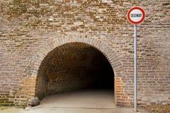 Отсутствие входа для seagway знака Стоковое Изображение