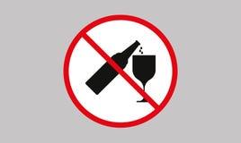 Отсутствие выпивая пива алкоголя, отсутствие знака алкоголя стоковое фото