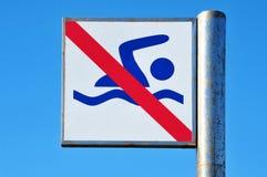 отсутствие заплывания знака Стоковое Фото