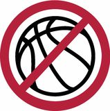 Отсутствие запрета баскетбола иллюстрация вектора