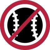 ОТСУТСТВИЕ запрета бейсбола бесплатная иллюстрация