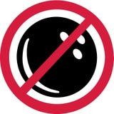 Отсутствие запрета боулинга иллюстрация вектора