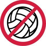 Отсутствие запрета волейбола иллюстрация вектора