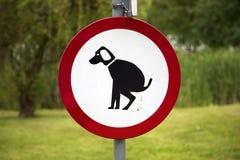 Отсутствие запрета входа собаки, знака Стоковые Фотографии RF
