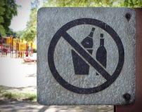 Отсутствие засаривая парка знака публично Стоковые Изображения