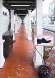 Отсутствие знака ботинок Стоковое фото RF
