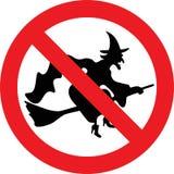 Отсутствие знака ведьм Стоковое Фото