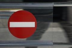 Отсутствие знака входа с moving диаграммы Стоковое Изображение