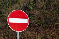 Отсутствие знака входа Стоковое Фото