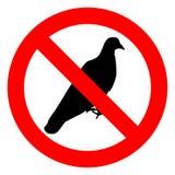 Отсутствие знака голубей Стоковая Фотография RF