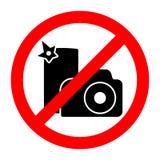 Отсутствие знака запрета камеры или smartphone стопа фото иллюстрация вектора