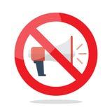 Отсутствие знака запрета мегафона бесплатная иллюстрация
