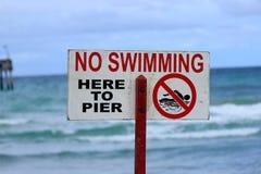 Отсутствие знака заплывания Стоковые Фото