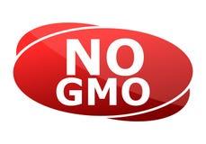 Отсутствие знака красного цвета GMO Стоковые Изображения