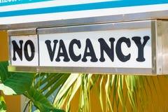 Отсутствие знака мотеля вакансии Стоковые Изображения RF