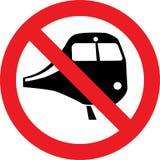 Отсутствие знака поездов Стоковая Фотография RF